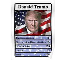 Donald Trump Top Trumps card Presidential Election 2016 Poster