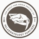 The Society of Palaeontology Fanciers (Brown on White) by David Orr