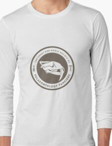The Society of Palaeontology Fanciers (Brown on White) Long Sleeve T-Shirt