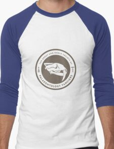 The Society of Palaeontology Fanciers (Brown on White) Men's Baseball ¾ T-Shirt
