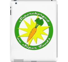 Supercharged on Super Foods Vegan and Vegetarian design (no background) iPad Case/Skin