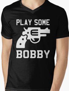Bobby Brown, Bobby Shmurda, Bobby Womack, Bobby McGee ... Mens V-Neck T-Shirt