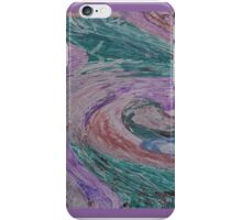 PASTEL SWIRL/PURPLES & GREENS iPhone Case/Skin