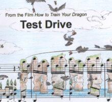 Test Drive Sheet Music Art Sticker