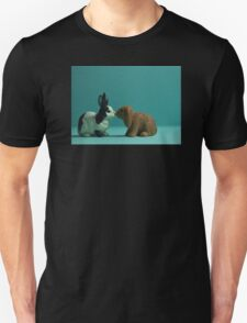 Bunny Love Digital Still Life Pop Art Unisex T-Shirt