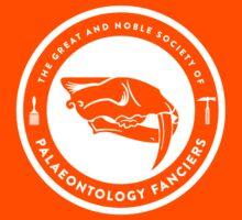 The Society of Palaeontology Fanciers (White on Dark) Kids Tee