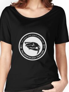 The Society of Palaeontology Fanciers (White on Dark) Women's Relaxed Fit T-Shirt