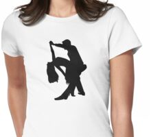 Dancing couple Womens Fitted T-Shirt