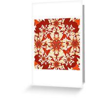 Digital Decorative Floral Pattern Greeting Card