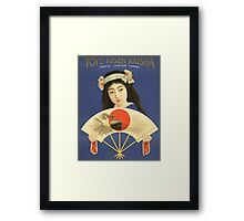 Toyo Kisen Kaisha Oriental Steamship Company Japan Vintage Travel Poster Framed Print