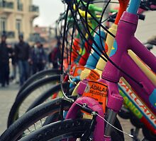 colourful bicycles in Buyukada Istanbul by gzmguvenc89