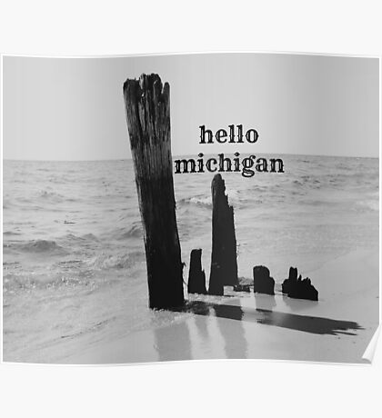 Hello Michigan Poster
