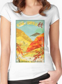 Osaka University Japan Vintage Travel Poster Women's Fitted Scoop T-Shirt