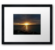 Rarotongan Sunset Framed Print