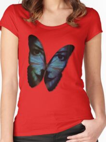 Am I A Butterfly Who Dreams About Being A Human? Women's Fitted Scoop T-Shirt