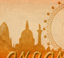 London skyline Sticker
