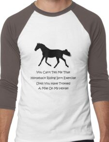 Horse & Exercise T-Shirts and Hoodies Men's Baseball ¾ T-Shirt