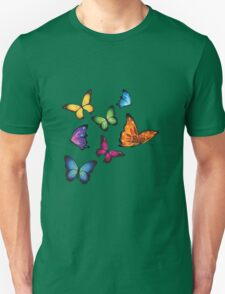 Colourful Butterflies Unisex T-Shirt