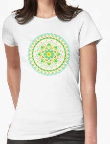 Peace Blossoms Womens Fitted T-Shirt