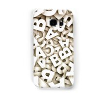 abstract letters Samsung Galaxy Case/Skin