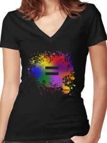 Equality Ink Women's Fitted V-Neck T-Shirt