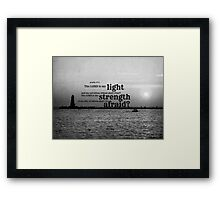 Psalm 27 Lord is My Light Framed Print