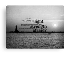 Psalm 27 Lord is My Light Canvas Print