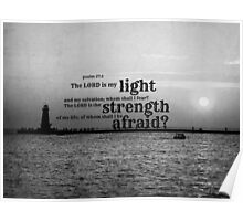 Psalm 27 Lord is My Light Poster