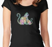 Scrapbook Cats Women's Fitted Scoop T-Shirt