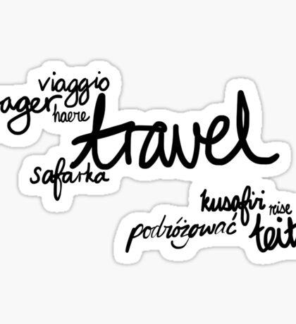 Travel the World! Sticker