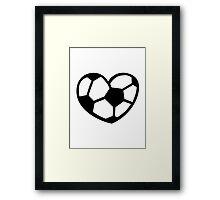 Soccer ball heart Framed Print