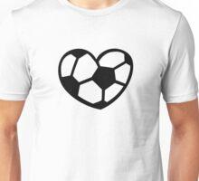 Soccer ball heart Unisex T-Shirt
