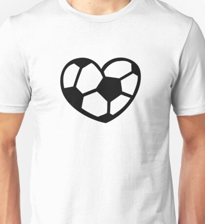 Soccer ball heart Unisex T-Shirt