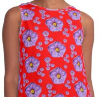 Purple Wildflower Contrast Tank