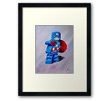 Captain Lego Framed Print