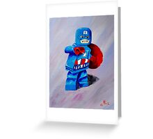 Captain Lego Greeting Card