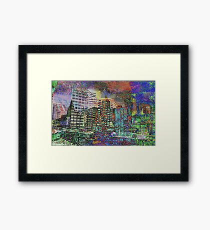 Urban Development and Loss of Space 2 Framed Print