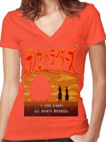 Sansetto Raidāzu Women's Fitted V-Neck T-Shirt