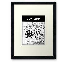 Zom-Bee Framed Print