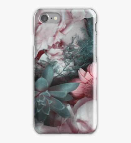 Moody Florals - Pink & Teal iPhone Case/Skin