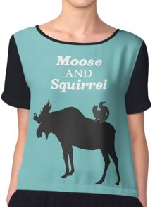 Supernatural Moose and Squirrel  Chiffon Top
