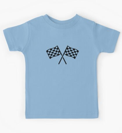 Racing finish flags Kids Tee