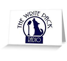 Write Pack Radio Blue Logo Greeting Card