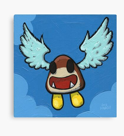 Flying Goomba Canvas Print