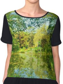 On Reflection Chiffon Top