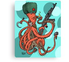 Russian Spy Octopus Canvas Print