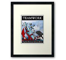 Teamwork Inspirational Poster Framed Print