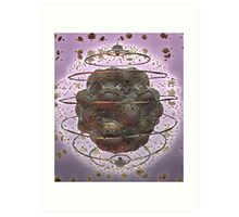 SCIENTIFIC ART PURPLE GLOW Art Print