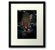 Luxemburg-Liebknecht Demo, Berlin 2014 Framed Print