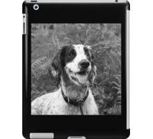 Dog portrait, spaniel in bracken iPad Case/Skin